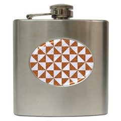 Triangle1 White Marble & Rusted Metal Hip Flask (6 Oz) by trendistuff