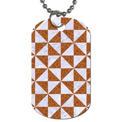 Triangle1 White Marble & Rusted Metal Dog Tag (two Sides)