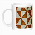 TRIANGLE1 WHITE MARBLE & RUSTED METAL Night Luminous Mugs Left