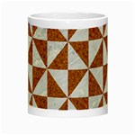 TRIANGLE1 WHITE MARBLE & RUSTED METAL Night Luminous Mugs Center