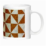 TRIANGLE1 WHITE MARBLE & RUSTED METAL Night Luminous Mugs Right