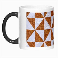Triangle1 White Marble & Rusted Metal Morph Mugs by trendistuff