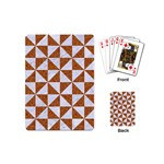 TRIANGLE1 WHITE MARBLE & RUSTED METAL Playing Cards (Mini)  Back