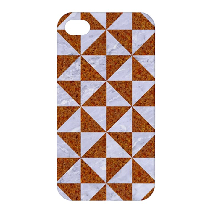 TRIANGLE1 WHITE MARBLE & RUSTED METAL Apple iPhone 4/4S Hardshell Case