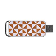 Triangle1 White Marble & Rusted Metal Portable Usb Flash (two Sides) by trendistuff