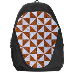 Triangle1 White Marble & Rusted Metal Backpack Bag by trendistuff