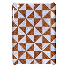 Triangle1 White Marble & Rusted Metal Apple Ipad Mini Hardshell Case by trendistuff