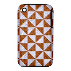Triangle1 White Marble & Rusted Metal Iphone 3s/3gs by trendistuff