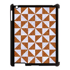 Triangle1 White Marble & Rusted Metal Apple Ipad 3/4 Case (black) by trendistuff