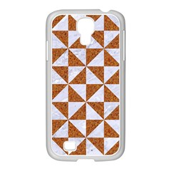 Triangle1 White Marble & Rusted Metal Samsung Galaxy S4 I9500/ I9505 Case (white)
