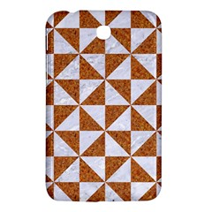Triangle1 White Marble & Rusted Metal Samsung Galaxy Tab 3 (7 ) P3200 Hardshell Case  by trendistuff