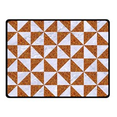 Triangle1 White Marble & Rusted Metal Double Sided Fleece Blanket (small)  by trendistuff