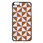 TRIANGLE1 WHITE MARBLE & RUSTED METAL Apple iPhone 6 Plus/6S Plus Black Enamel Case Front