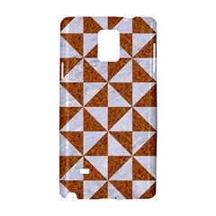 Triangle1 White Marble & Rusted Metal Samsung Galaxy Note 4 Hardshell Case by trendistuff