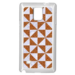 Triangle1 White Marble & Rusted Metal Samsung Galaxy Note 4 Case (white) by trendistuff
