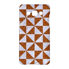 Triangle1 White Marble & Rusted Metal Samsung Galaxy A5 Hardshell Case  by trendistuff
