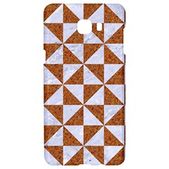 Triangle1 White Marble & Rusted Metal Samsung C9 Pro Hardshell Case  by trendistuff