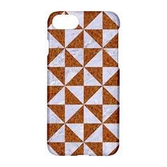 Triangle1 White Marble & Rusted Metal Apple Iphone 8 Hardshell Case by trendistuff