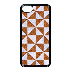 Triangle1 White Marble & Rusted Metal Apple Iphone 8 Seamless Case (black) by trendistuff