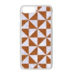 TRIANGLE1 WHITE MARBLE & RUSTED METAL Apple iPhone 8 Plus Seamless Case (White) Front