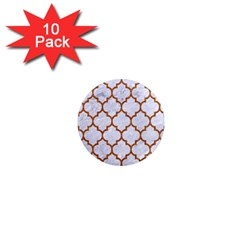 TILE1 WHITE MARBLE & RUSTED METAL (R) 1  Mini Magnet (10 pack)