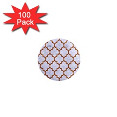 TILE1 WHITE MARBLE & RUSTED METAL (R) 1  Mini Magnets (100 pack)
