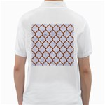 TILE1 WHITE MARBLE & RUSTED METAL (R) Golf Shirts Back