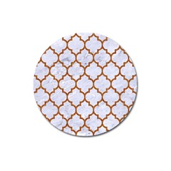 TILE1 WHITE MARBLE & RUSTED METAL (R) Magnet 3  (Round)