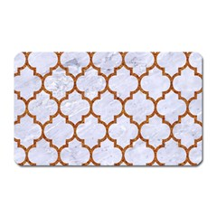 TILE1 WHITE MARBLE & RUSTED METAL (R) Magnet (Rectangular)