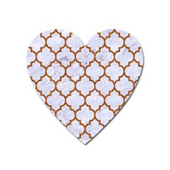 Tile1 White Marble & Rusted Metal (r) Heart Magnet by trendistuff