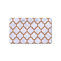 Tile1 White Marble & Rusted Metal (r) Magnet (name Card) by trendistuff