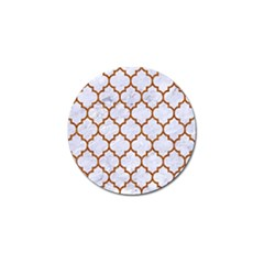 TILE1 WHITE MARBLE & RUSTED METAL (R) Golf Ball Marker