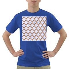 TILE1 WHITE MARBLE & RUSTED METAL (R) Dark T-Shirt