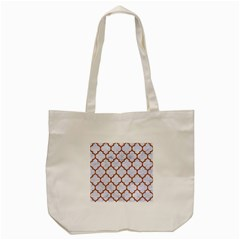 TILE1 WHITE MARBLE & RUSTED METAL (R) Tote Bag (Cream)
