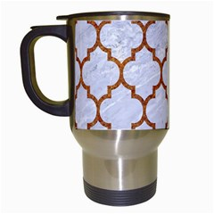 Tile1 White Marble & Rusted Metal (r) Travel Mugs (white) by trendistuff