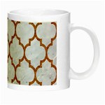 TILE1 WHITE MARBLE & RUSTED METAL (R) Night Luminous Mugs Right