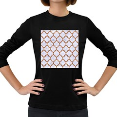 TILE1 WHITE MARBLE & RUSTED METAL (R) Women s Long Sleeve Dark T-Shirts