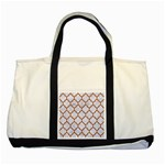 TILE1 WHITE MARBLE & RUSTED METAL (R) Two Tone Tote Bag Front