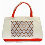 TILE1 WHITE MARBLE & RUSTED METAL (R) Classic Tote Bag (Red) Front