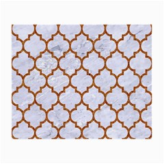 TILE1 WHITE MARBLE & RUSTED METAL (R) Small Glasses Cloth (2-Side)