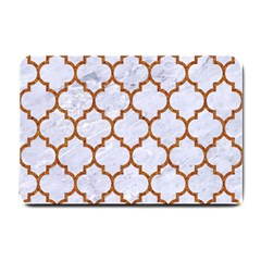 Tile1 White Marble & Rusted Metal (r) Small Doormat  by trendistuff