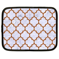 TILE1 WHITE MARBLE & RUSTED METAL (R) Netbook Case (Large)