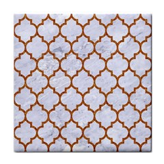 TILE1 WHITE MARBLE & RUSTED METAL (R) Face Towel