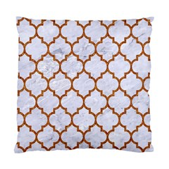 TILE1 WHITE MARBLE & RUSTED METAL (R) Standard Cushion Case (One Side)