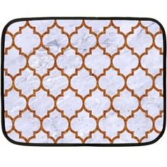 TILE1 WHITE MARBLE & RUSTED METAL (R) Double Sided Fleece Blanket (Mini)
