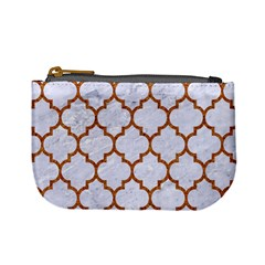 TILE1 WHITE MARBLE & RUSTED METAL (R) Mini Coin Purses