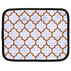 TILE1 WHITE MARBLE & RUSTED METAL (R) Netbook Case (XL)