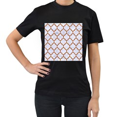 TILE1 WHITE MARBLE & RUSTED METAL (R) Women s T-Shirt (Black)