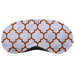 TILE1 WHITE MARBLE & RUSTED METAL (R) Sleeping Masks