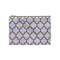 TILE1 WHITE MARBLE & RUSTED METAL (R) Cosmetic Bag (Medium)